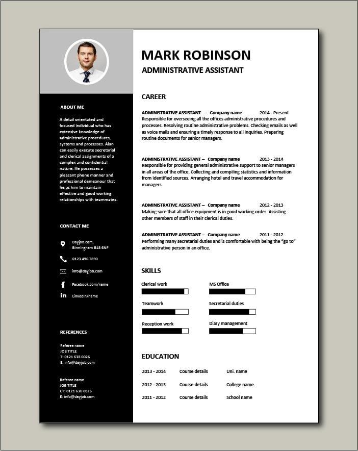 Free Administrative Assistant CV 3
