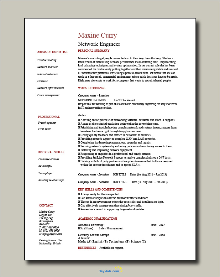Network-Engineer-resume-1-page