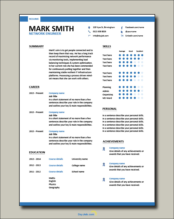 Network Engineer resume 2 - 1 page