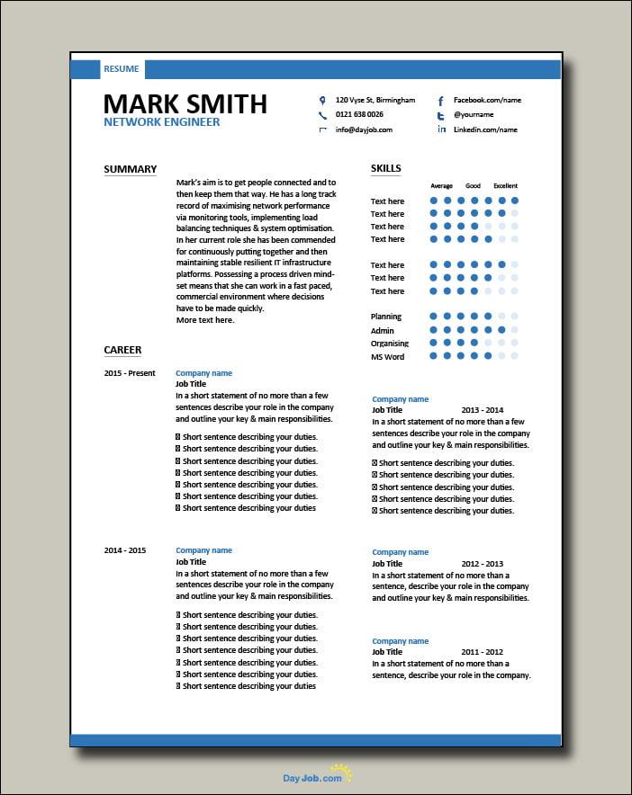 Network Engineer resume 2 - 2 page