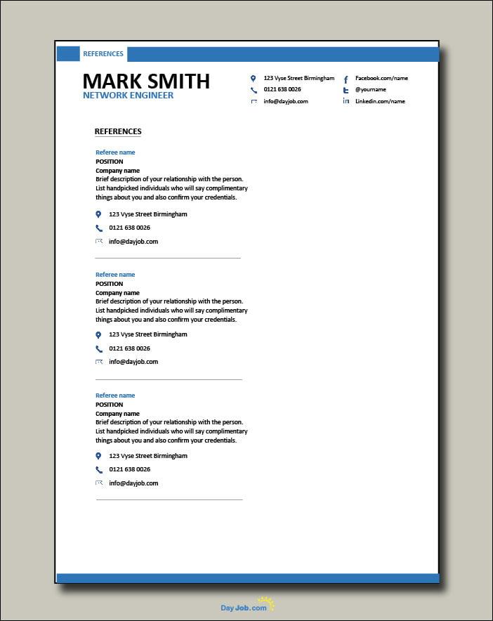 Network Engineer resume 2 - References