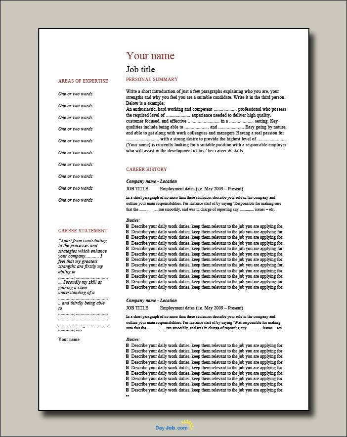Network Engineer resume 2 page