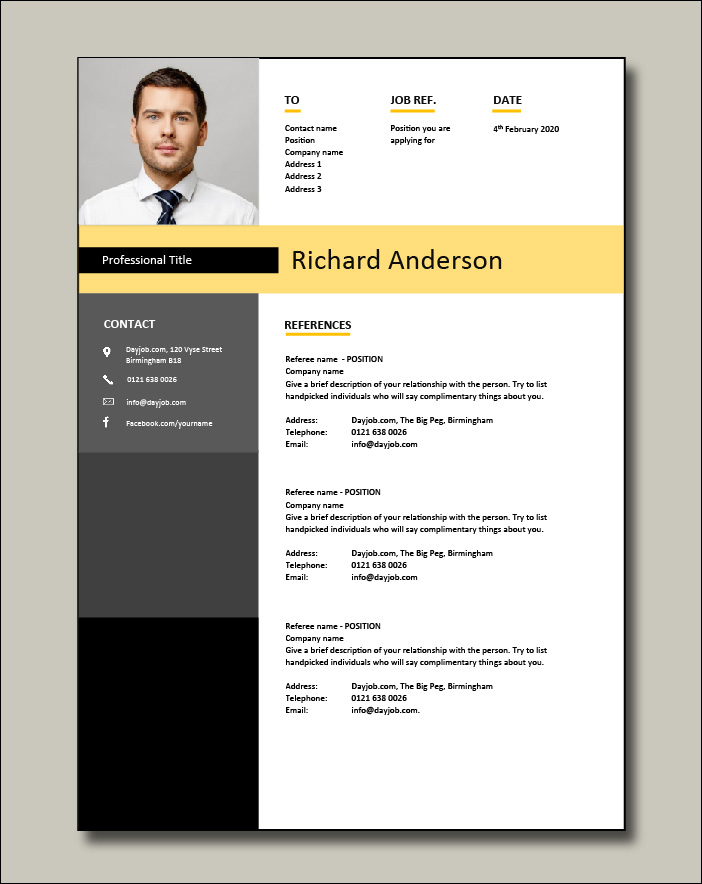 Network Engineer resume template 1 References