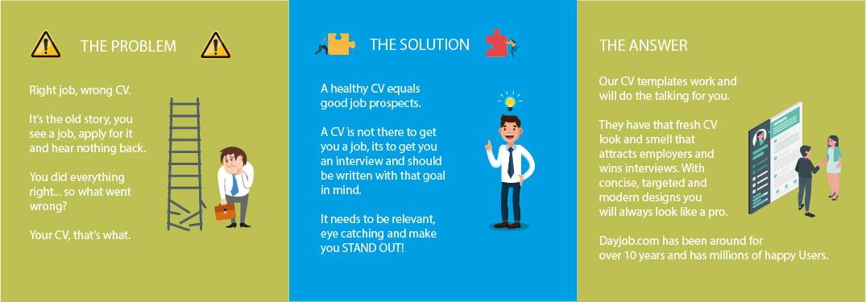 Premium CV template infographic