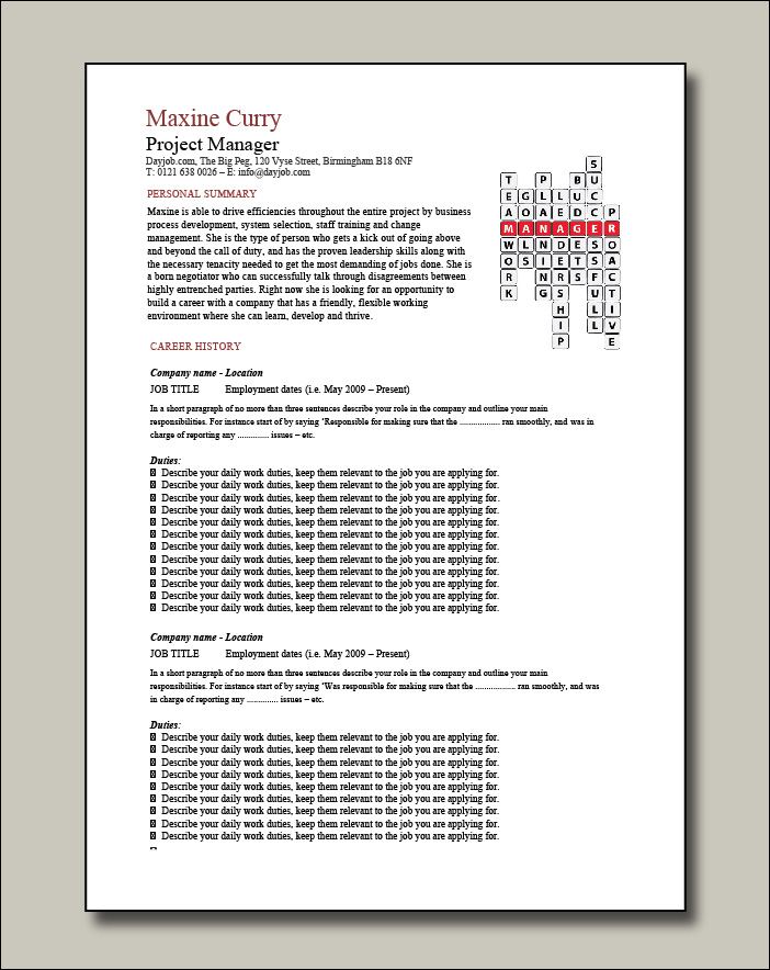 Project-Manager-crossword-template-2-page