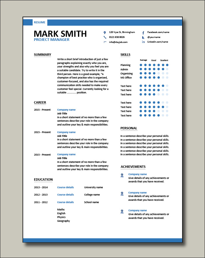 Project-Manager-modern-resume-template-1-1-page