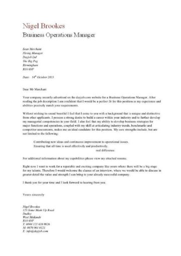 business operations manager cover letter 1