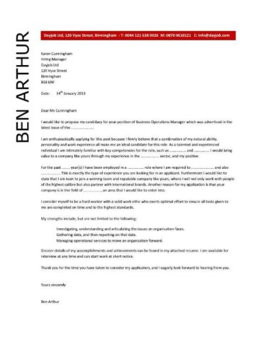 business operations manager cover letter 5