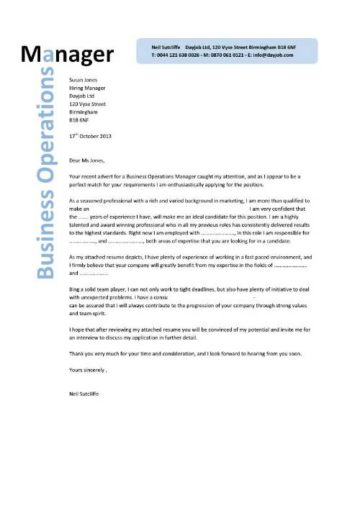business operations manager cover letter 8