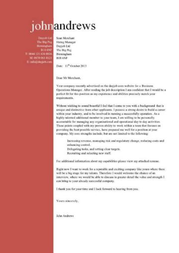 business operations manager cover letter 9