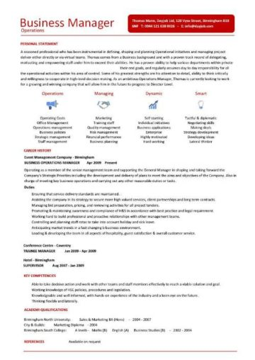 business operations manager resume 7