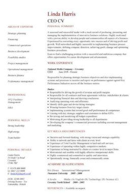 ceo CV template
