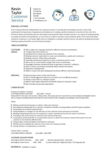qualifications for resume customer service