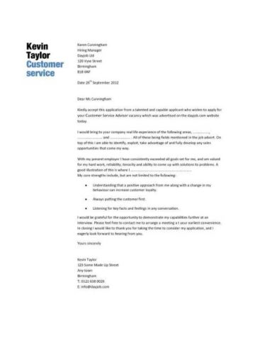 Customer Service Cover Letter 2 Pic 1