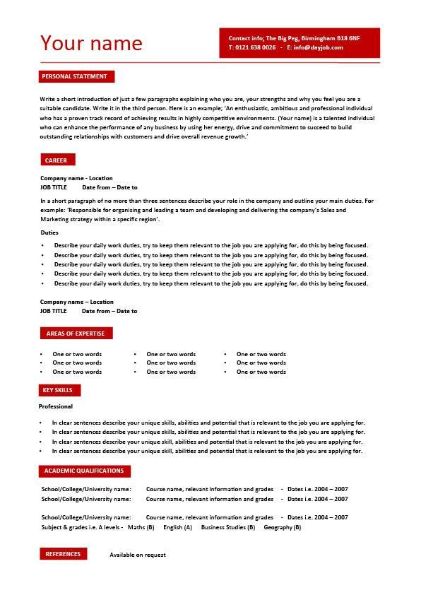CV Builder template 8