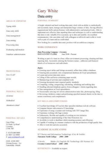 Administration CV template, free administrative CVs ...