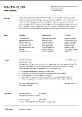 Increase the chances of getting an interview by writing a finance manager CV like this one.