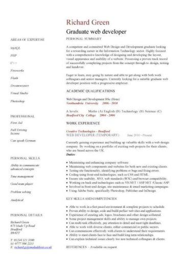 Graduate CV template, student jobs, graduate jobs, career ...
