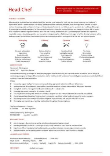 chef resume sample, examples, sous, chef jobs, free ...
