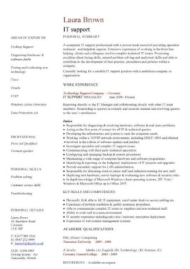 IT support CV template