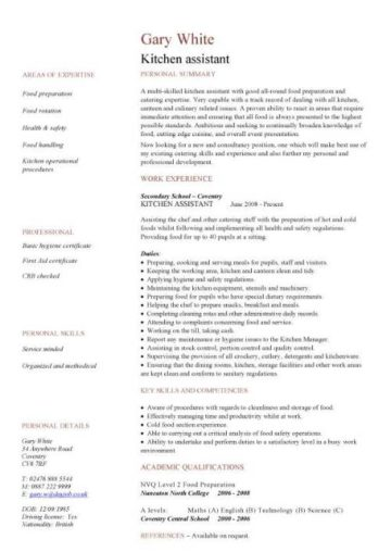 free catering cv template samples  catering jobs  event catering  caterers  cooking  hospitality