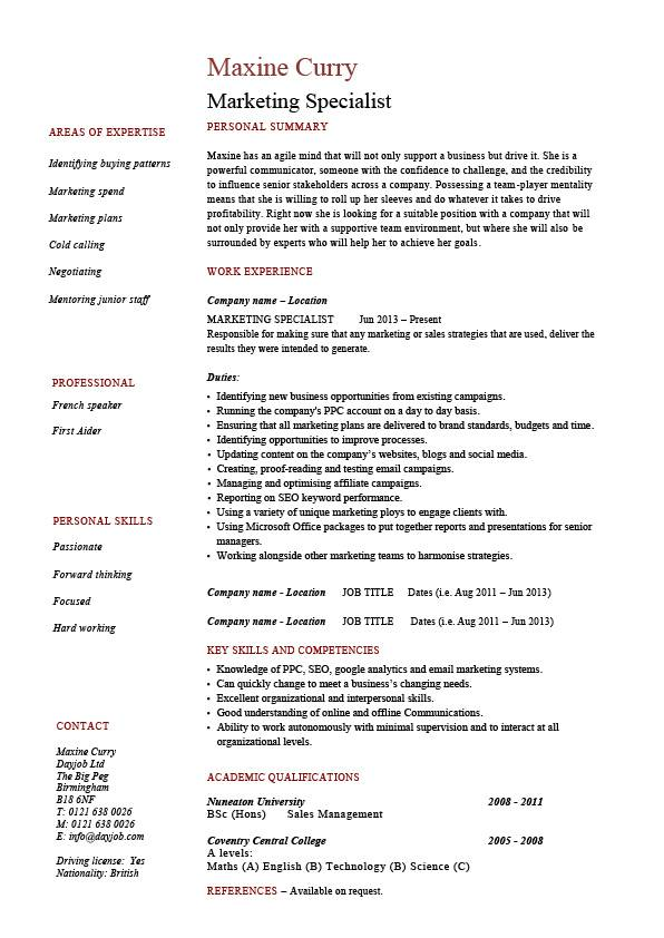 skill and qualifications for resumes