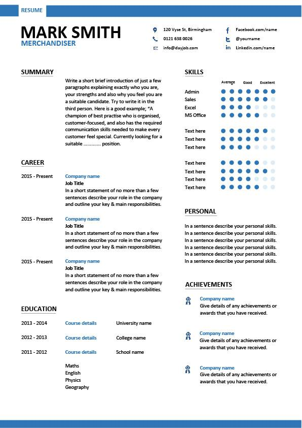 Merchandiser Resume Example Sample Visual Marketing Looking For
