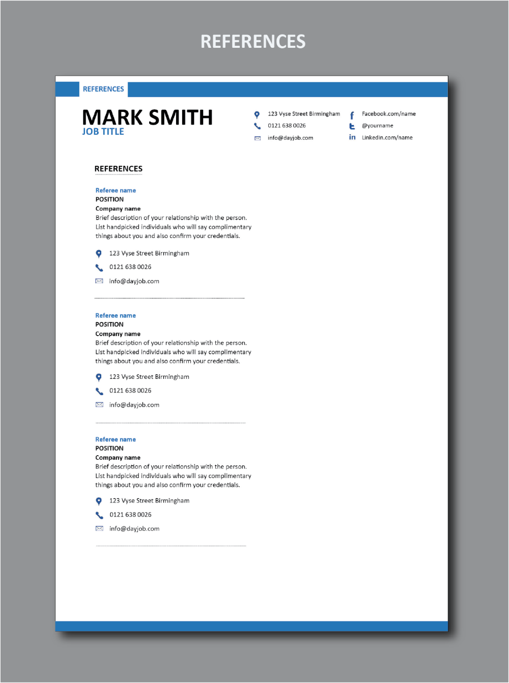 modern resume template 1  stylish resume design  set of
