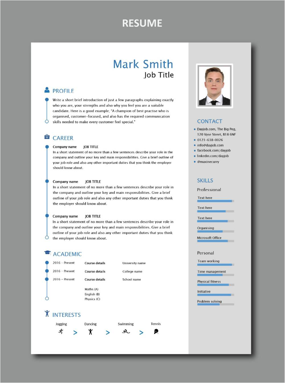 Modern Resume Template 5 Get Invited To A Job Interview Career Work