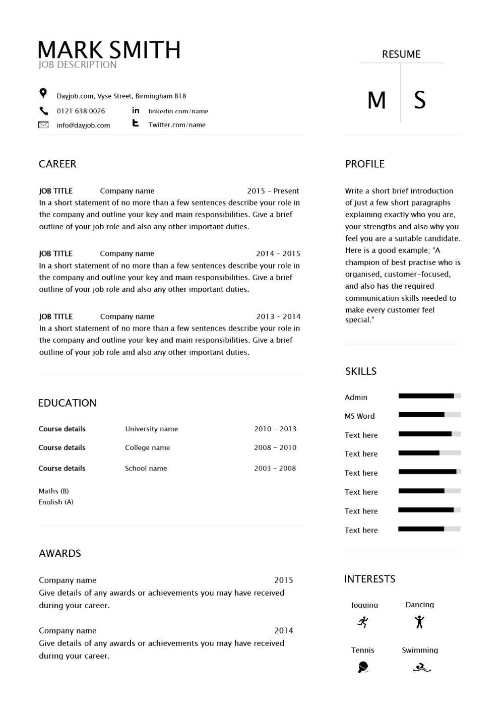 modern resume template 7  help getting that job  examples