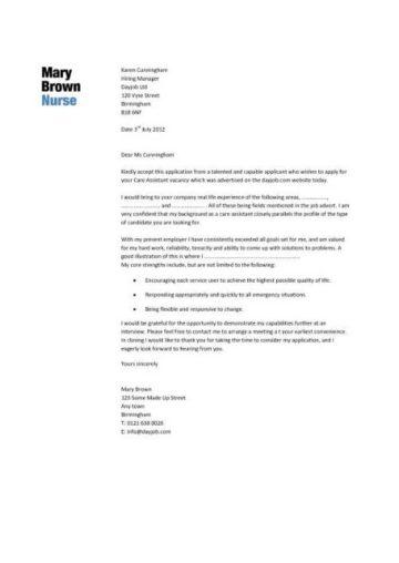 Nursing CV template, nurse resume, examples, sample ...