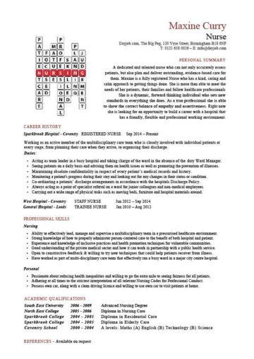 nursing crossword templates  cv  resume  cover letters