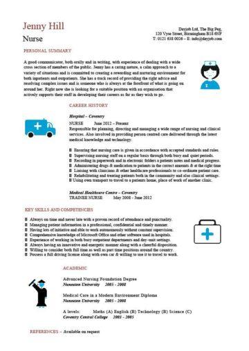 nurse CV template 4