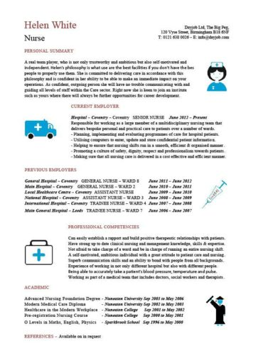 nurse CV template 5
