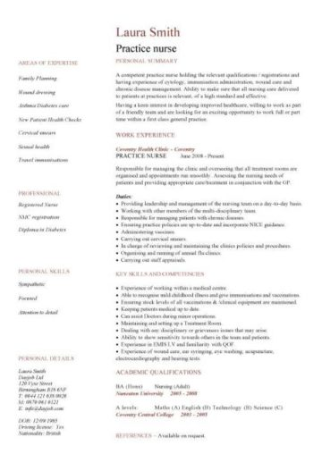 nursing cv template  nurse resume  examples  sample