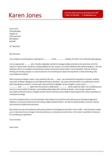 project manager cover letter example 7