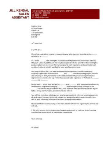 sales assistant cover letter 6