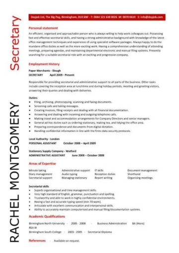 pic_secretary_resume_sample