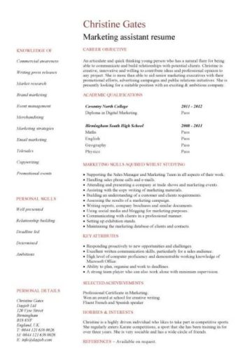 graduate cv template  student jobs  graduate jobs  career  curriculum vitae  qualifications