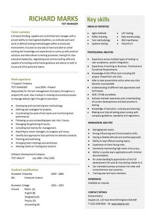Download this CV today and start putting your own one together immediately.