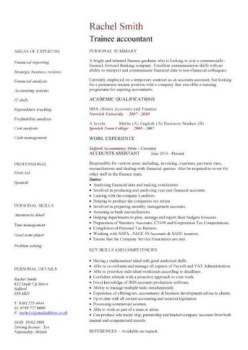 trainee accountant CV