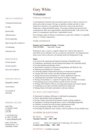 volunteer CV