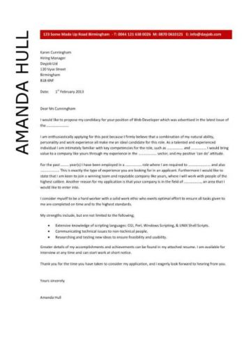 Web Design Cover Letter from www.dayjob.com