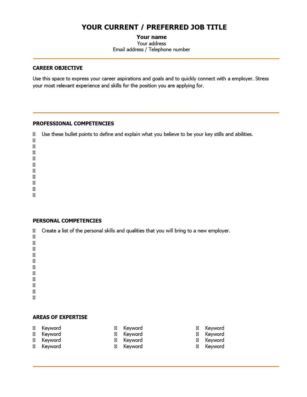 a good cv like this is the key to landing an interview 2 pages