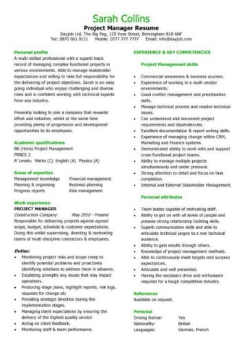 pic_project_manager_resume_sample