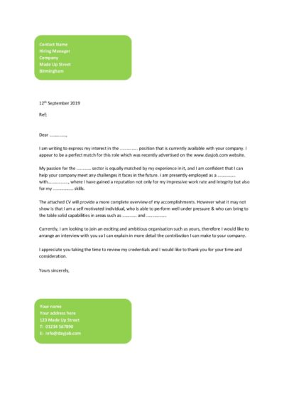 Cover letter examples, template, samples, covering letters ...