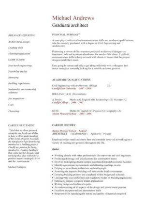 Graduate CV template