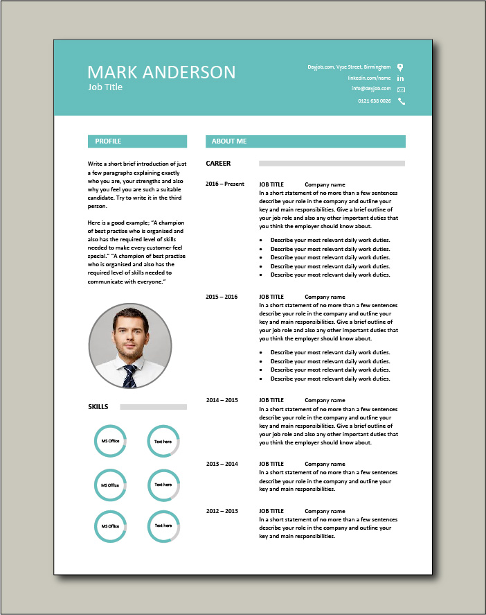 This CV template will attract attention