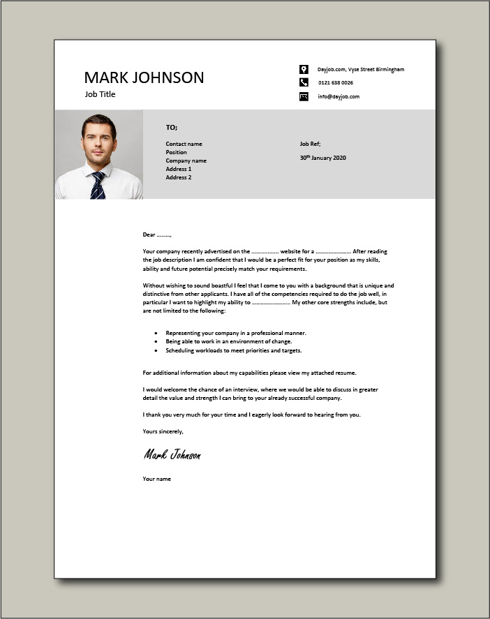 Get noticed with this cover letter