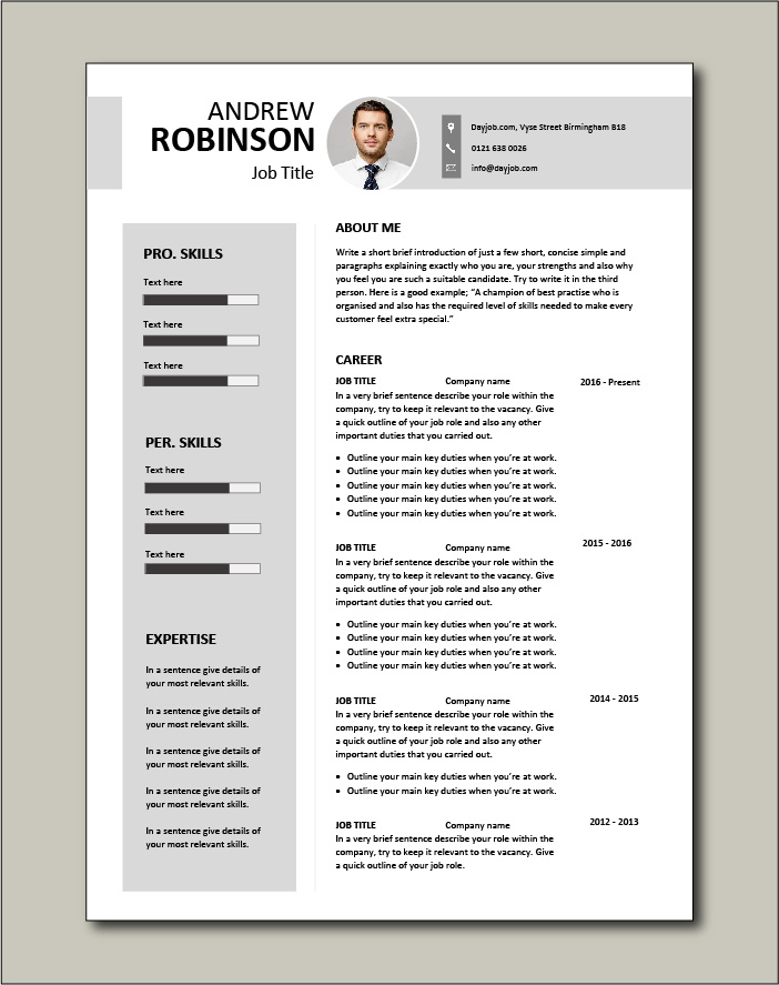 Set you apart from the crowd with this CV template